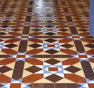 tiled floors